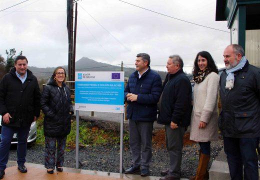 A veciñanza de Boqueixón xa pode transitar con seguridade entre A Susana e A Eirexe coa nova senda peonil e ciclista