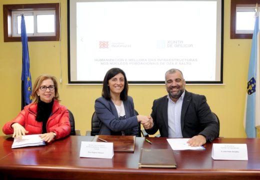 Medio Ambiente licitará esta primaveira a obra de humanización dos nucleos de Oza e Salto, no concello de Oza-Cesuras