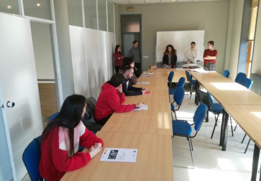 Benvida de Susana García aos participantes do proxecto laboral Eixo