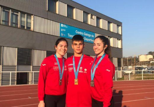 Ouro, prata e bronce para o Atlética A Silva-Ordes no Campionato Galego de Péntatlon de Lanzamento