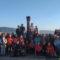 Un total de 45 veciños e veciñas de Frades percorren os 14 km entre Fisterra e Lires