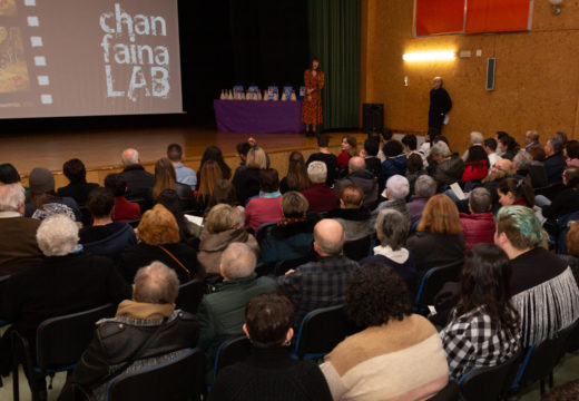 Cheo na Casa da Cultura de San Sadurniño para a estrea das curtas do Chanfaina Lab