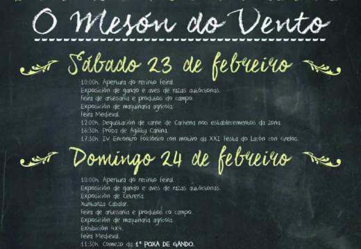 Esta fin de semana terá lugar no Mesón do Vento a XXI Festa do Lacón con Grelos