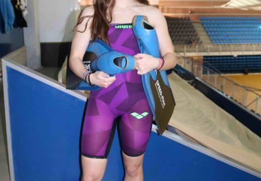 Lara López, cuarta clasificada no XXXIII Campionato de España de Salvamento e Socorrismo Xuvenil Júnior e Absoluto de Inverno