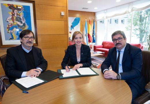 A Xunta asina co concello de Miño o convenio para a xestión do Centro de Día para maiores dese municipio coruñés