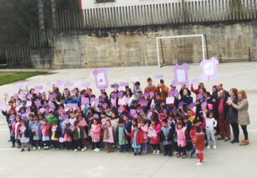 O alumnado do CPI Ponte Carreira (Frades) únese á campaña a prol da igualdade de xénero do CIM da Mancomunidade de Ordes