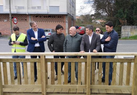 A Xunta supervisa as obras da senda Ares-Mugardos nas que a Xunta investiu 1,5m€ para lograr unha estrada máis humana