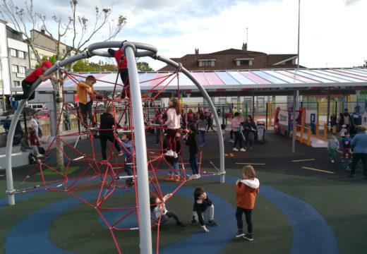 Abre o novo parque infantil cuberto