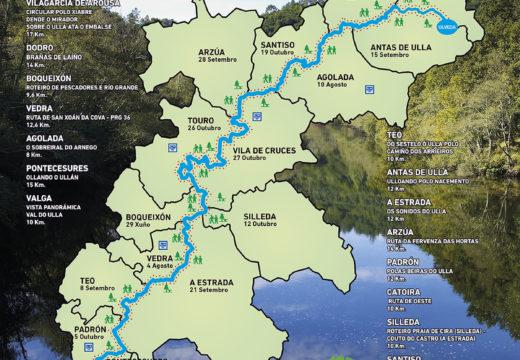 O programa 'Goza do Ulla 2019' ofrece vinte rutas pola beira do Ulla dende maio ata novembro