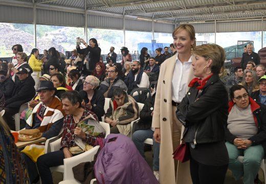 Fabiola García salienta as catro décadas de traballo de Aspronaga na formación, apoio e integración das persoas con discapacidade