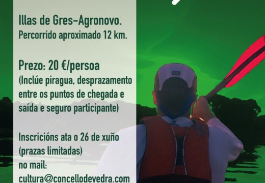 Aberto o prazo de inscrición para o Descenso do Ulla en Piraguas, que terá lugar o 30 de xuño