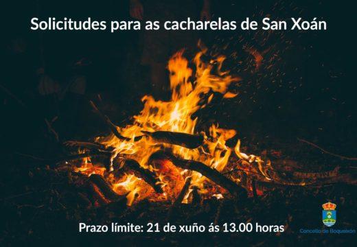 O Concello de Boqueixón abre ata o 21 de xuño o prazo de solicitude de cacharelas de San Xoán