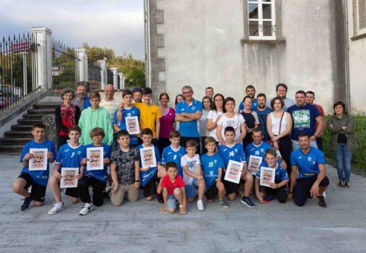 Recepción ao equipo alevín do Aldebarán no Concello de San Sadurniño