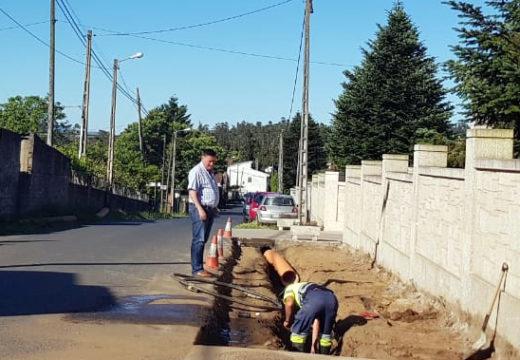 Comezan as obras de construción dunha senda peonil na parroquia de Lamas