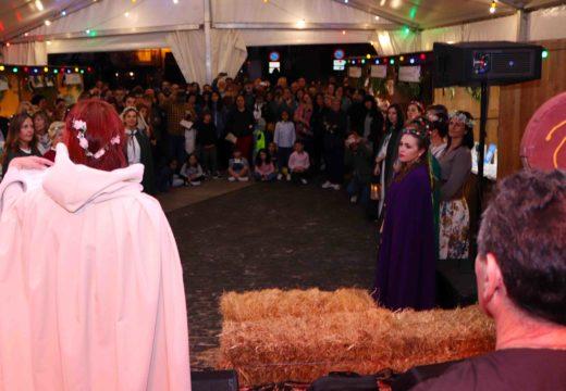 Compostela recibiu o Lume Sagrado do Pico Sacro da man das tribos celtas de Boqueixón e Callobre