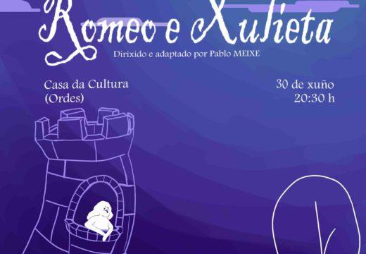 Romeo e Xulieta, este próximo domingo na Casa da Cultura
