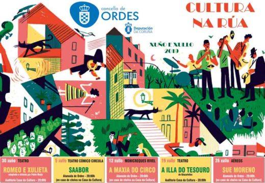 Cultura na rúa enche o verán de Ordes de teatro, monicreques e espectáculos aéreos