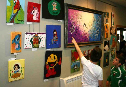 Inaugurada a mostra dos cursos de pintura