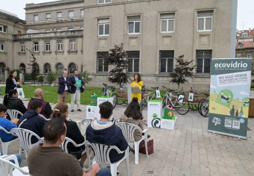 Ángeles Vázquez subliña as 25,7 toneladas de vidro recollidas na Coruña en San Xoán como mostra do aumento da conciencia cidadá