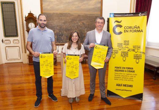 """""""Coruña en Forma"""" dará comezo mañá coa marcha nórdica como novidade"""