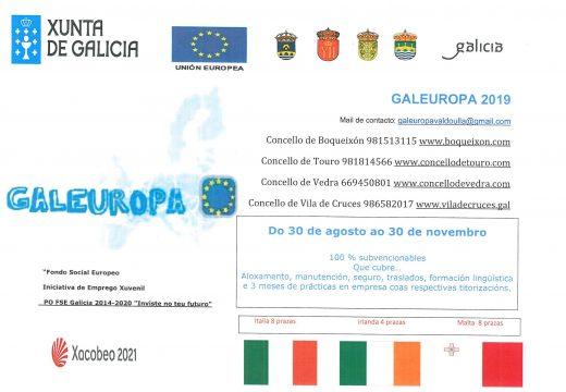 Os Concellos do Val do Ulla abren o prazo de inscrición para una nova edición do programa de mobilidade xuvenil Galeuropa