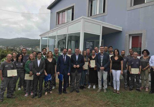 Ovidio Rodeiro clausura o obradoiro de emprego de Ferrol que formou a 20 alumnos en actividades auxiliares en conservación e mellora de montes