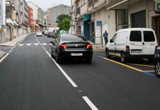Finalizan as obras de asfaltado da rúa Lagartos