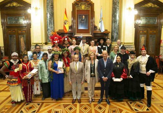 O Concello recibe os grupos do Festival de Folclore Internacional