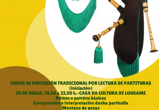 A Casa da Cultura de Lousame acollerá o vindeiro xoves 8 de agosto a clausura dos Cursos de Verán da A.C. O Son do Pote
