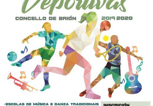 O Concello de Brión abre ata o 13 de setembro o prazo de inscrición nas actividades culturais e deportivas para o curso 2019-2020