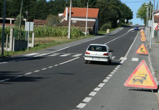 Inícianse as obras de mellora da estrada Ordes-Carballo