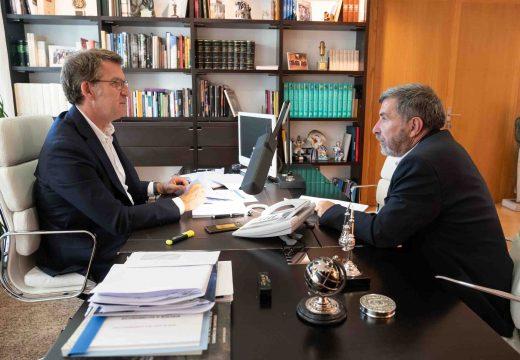 O alcalde de Riveira abordou co presidente da Xunta temas estratéxicos para o progreso do municipio Barbanzán