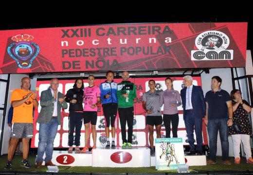 Lolo Penas e Joselyn Daniel y Brea Abreu vencen na XXIII Carreira Pedestre Popular de Noia, na que participaron máis de 600 atletas