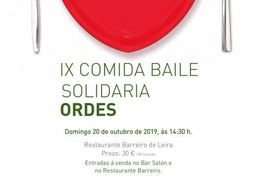 A AECC Ordes celebra a súa IX Comida Baile Solidaria