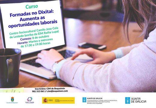 O CIM de Boqueixón abre as inscricións para o curso 'Formadas no Dixital: Aumenta as oportunidades laborais'