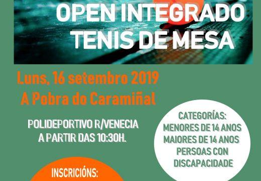 O luns,16 de setembro, no Polideportivo da r/Venecia da Pobra do Caramiñal, vai ter lugar o OPEN INTEGRADO DE TENIS MESA – TORNEO SETEMBRO 2019