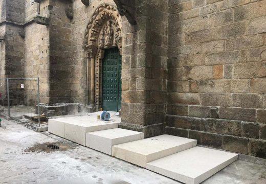 O Concello de Noia inicia as obras de mellora da accesibilidade á igrexa parroquial de San Martiño de Noia