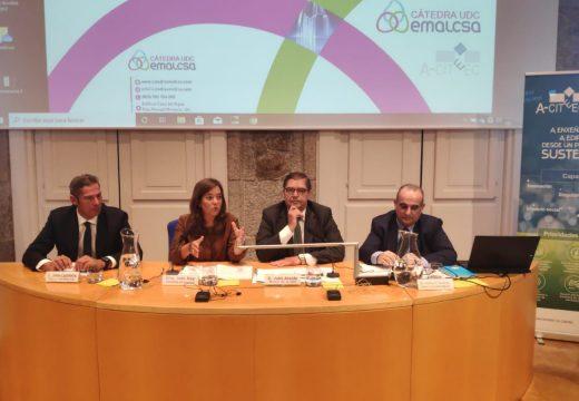 Inés Rey destaca o compromiso da Universidade e de Emalcsa coa sustentabilidade e a xestión da auga