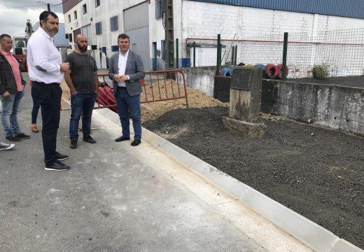 A Xunta inviste case 100.000 euros na mellora das beirarrúas e servizos no polígono industrial de Merelle en Ordes
