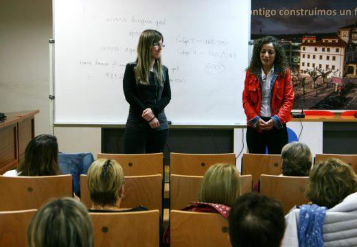 Benvida de Susana García ao alumnado do novo curso CELGA 2 e 4 impartido polo SNL da Mancomunidade