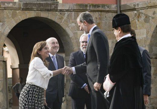 Rey destaca os valores nos que se asenta a Universidade coruñesa