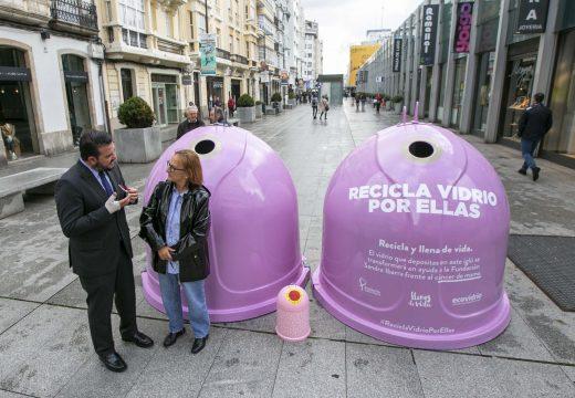 O Concello colabora con Ecovidrio na campaña Recicla vidro por elas con motivo do Día Mundial do Cancro de Mama