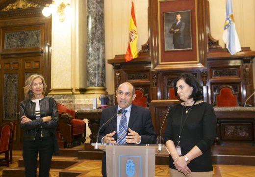 O edil de Cultura recibe as persoas representantes dos cinco países que coordinan o programa Erasmus PHIL