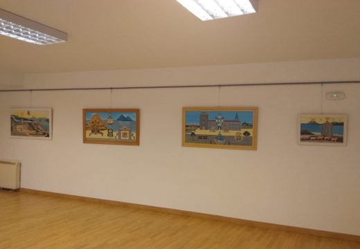 O noiés Ramón Caamaño Cernadas expón 23 dos seus óleos na Casa da Cultura de Lousame ata o vindeiro 11 de novembro