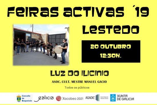 Nova sesión do programa Feiras Activas coa actuación este domingo 20 de outubro do grupo Luz do Ilicino