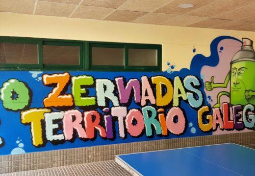 Mozos e mozas do CPI Plurilingüe Cernadas de Castro participan en dous obradoiros gratuítos de graffiti