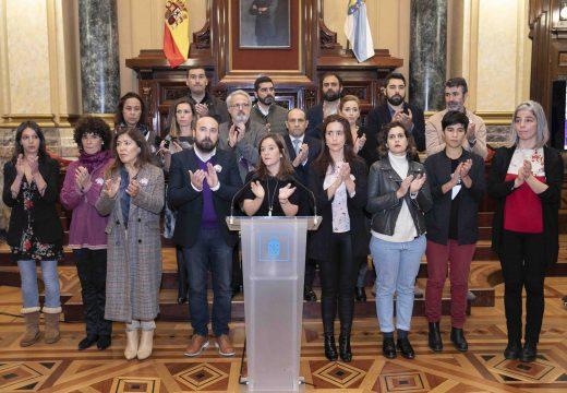 A Corporación Municipal conmemora o Día Internacional da Eliminación da Violencia contra o Muller cun acto no salón de plenos