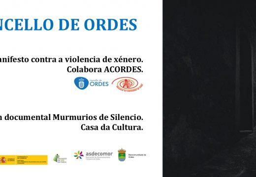 O Concello de Ordes implícase co 25N e contra a violencia de xénero
