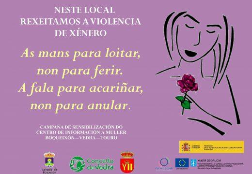 O CIM de Boqueixón promove a campaña de concienciación 'Malva contra a Violencia' entre o comercio local