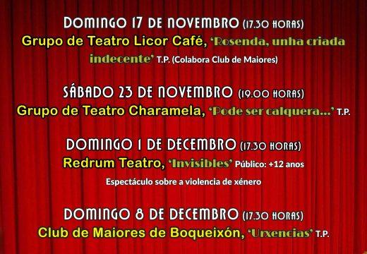 O Concello de Boqueixón pon en marcha unha nova edición do seu Ciclo de Teatro de Outono